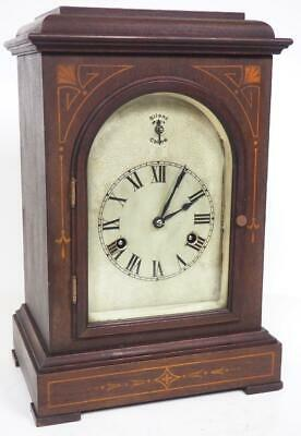 Antique 8 Day Bracket Clock Musical Quarter Striking Westminster Mantel Clock