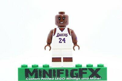Custom Lego KOBE BRYANT Minifig NBA Basketball Los Angeles Lakers Black Mamba