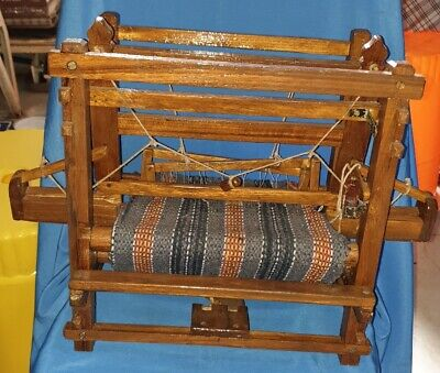 Old Vintage Miniature Size Wooden Cloth Handloom Machine model  From India 1960