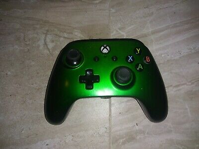 Microsoft Xbox One PowerA Enhanced Wired Controller Green-NO CORD