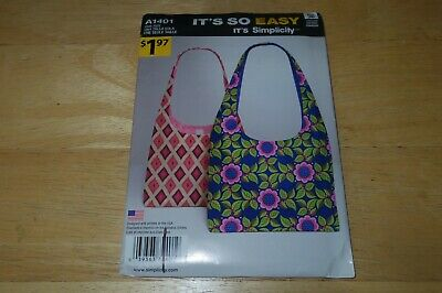 Simplicity 8372 It/'s So Easy Lunch Bags Sacs Bolsos Sewing Pattern