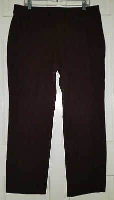 Chicos brown stretch side zip pants. size 2.5