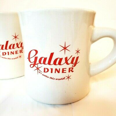 Galaxy Diner set of two coffee mugs restaurant ware