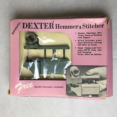 Vintage Dexter Hemmer & Stitcher Hand Sewing Machine and Instructions USA Made