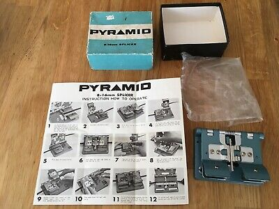 VINTAGE PYRAMID  8 - 16 mm FILM SPLICER  BOXED WITH INSTRUCTION LEAFLET VGC