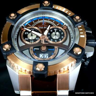 Invicta Reserve Grand Octane 63mm Rose Gold Two Tone Steel Swiss Mvt Watch New