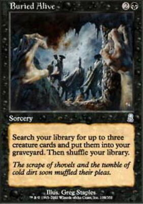 1x - Buried Alive - Foil NM, English MTG Odyssey