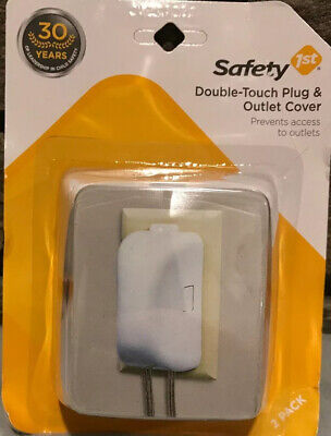 Safety 1st 2 Pack Double Touch Plug 'N Electrical Outlet Covers