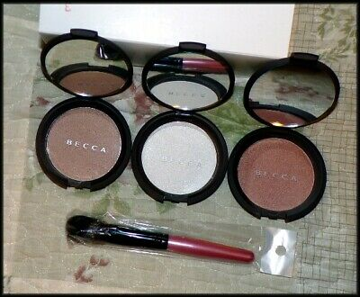 Becca Shimmering Skin Perfector Pressed Highlighter Compact - 3 Shades & Brush