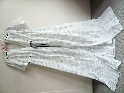 Vintage Chaslyn Polka Dot Cotton Peignoir Negligee Nightdress