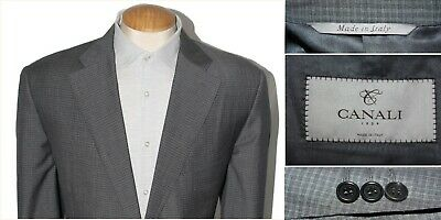 CANALI 1934 gray pattern sport coat blazer MADE IN ITALY 56R EU 46R US