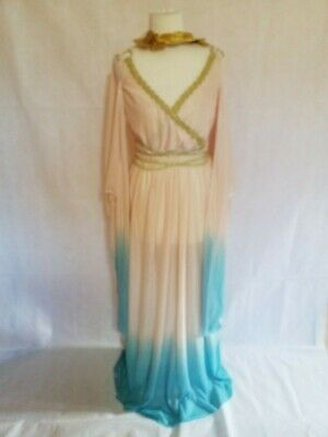 Greek Princess Toga Roman Grecian Goddess Empress Ladies Fancy Dress 2 Pcs  Med