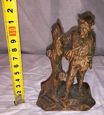 !!!!!!!!!!!!!! Ancient Wooden Sculpture (Hunter) Carving On Wood !!!!!!!!!!!!!!!