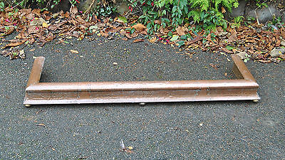 Lovely Vintage Arts & Crafts Style Beaten Copper Fire Fender Kerb Curb. Wirral