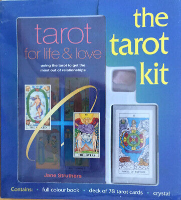 The Tarot Kit New/Sealed Contains Full Colour Book,Deck Of 78 Tarot Cards Crysta