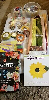 Complete Package of Supplies & Instruction Books For Paper Flowers New & Used