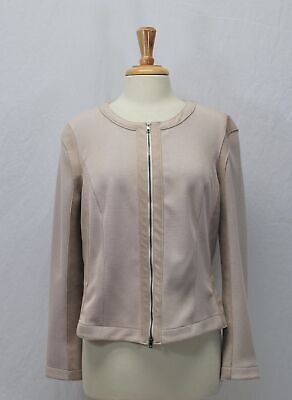 Marc Cain Beige (with very light pale pink blush tone) Zip Jacket Size N5