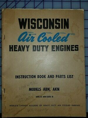 Wisconsin Air Cooled Heavy Duty Engines Model ABN AKN Manual