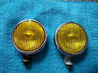 Vintage Bosch yellow  fog lights Mercedes Porsche 356 VW Beetle Split Bus