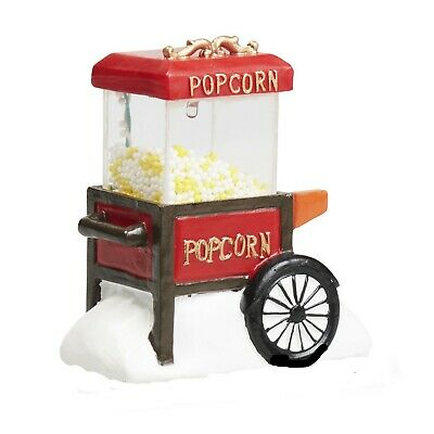 Holiday Time Christmas Village House Accessories - Light-Up Popcorn Stand (B)