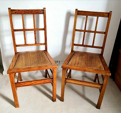 Fabulous Pair of 1930s Waring & Gillow Arts & Crafts Oak Occasional Chairs