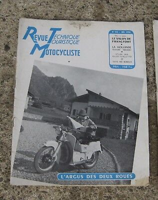 RTM revue technique motocycliste 123 decembre 1956 guzzi galletto