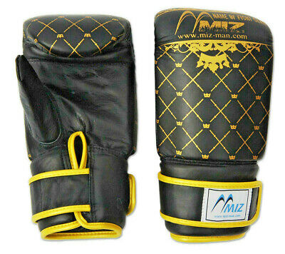 Leather Bag Gloves Boxing Sparring MMA Muay Thai Punch Training Kick Martial Art