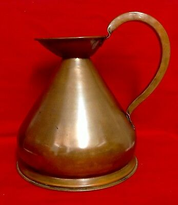 Antique Victorian Hand Crafted, One Gallon Copper Harvest, Ale, Cider Jug