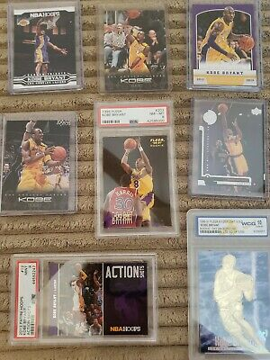 🔥🏀 8 KOBE Bryant CARD LOT Gem mint graded ROOKIE 1996 1996-97 EX-2000 Gold &