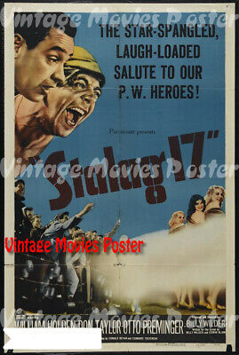 Stalag 17 1960 Repro Reproduction Print USA Comedy Poster Billy Wilder