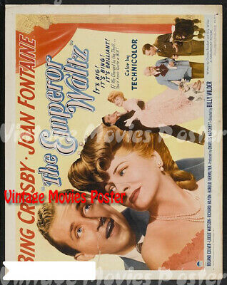 The Emperor Waltz 1948 Repro Reproduction Print USA Comedy Poster Billy Wilder