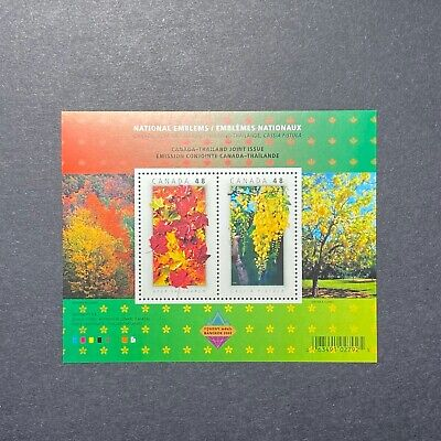 2003 Canada National Emblems Souvenir Sheet #2001b MNH-joint issue with Thailand