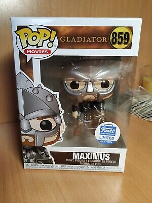 Funko pop Gladiator Maximus 859 funko shop limited edition armored