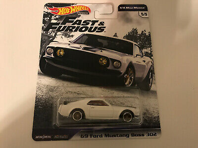 /'69 FORD MUSTANG BOSS 302 Fast /& Furious 1//4 Mile Muscle 1:64 HOT WHEELS gbw89