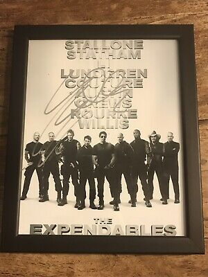 Sylvester Stallone Signed The Expendables With COA Autograph Rocky Rambo