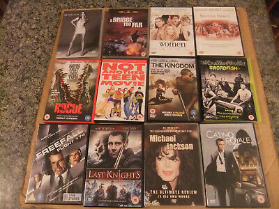Joblot of 87 movie films (DVD) Great for car boot sales