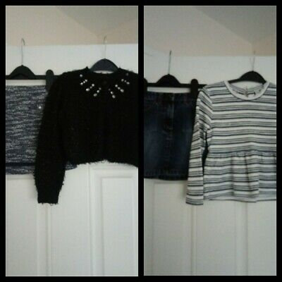 Girls Outfits bundle Next/H&M Skirts, George cardigan and TU Top 5-6 Years