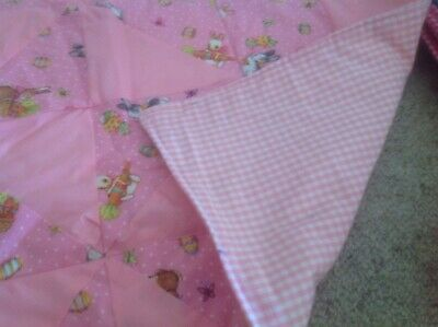 Cot Quilt Handmade. Approx 70 Cm X 90 Cm. Easter Themed