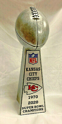 "2020 Kansas City Chiefs 10"" Super Bowl Championship Lombardi Style Trophy"