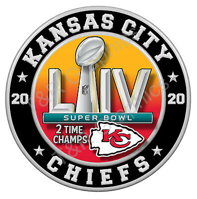 Kansas City Chiefs Super Bowl 54 2020 Championship Vinyl Stickers NFL football
