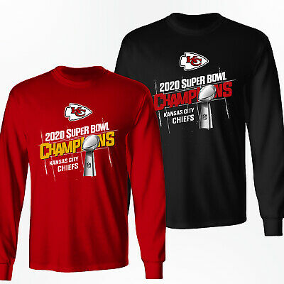 Kansas City Chiefs 2020 Super Bowl LIV Champions Long Sleeve Shirt - S-3XL