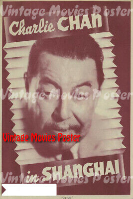 Charlie Chan in Shanghai 1935 Reproduction Print USA Crime Poster James Tinling