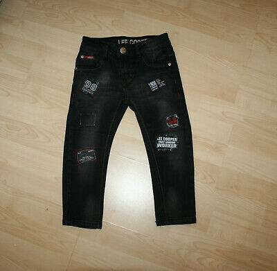 BNWT Lee Cooper Buy Black Chick Patchwork Jeans Sz 2T / 2-3 yrs RRP £25.00