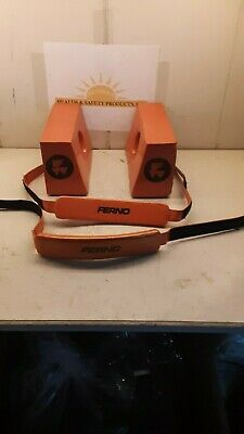 Ferno Universal Head Immobilizer Model 445 Side Pieces and Straps Orange