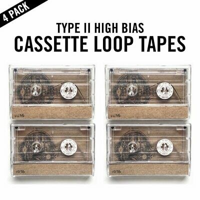 4 Pack: Cassette Tape Loop / 5 Second Length (Ambient / Tascam / 4 Track)