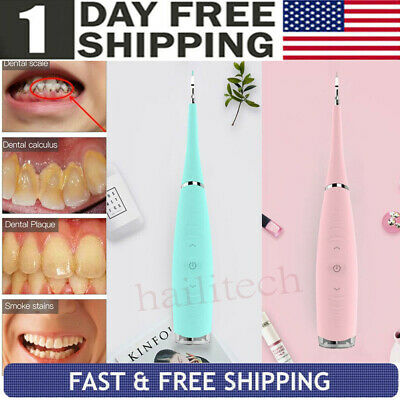 USB Electric Ultrasonic Sonic Dental Scaler Tooth Calculus Remove Stains Clean