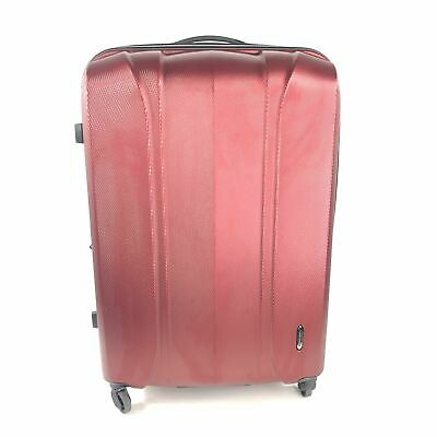 "Samsonite 30"" Hardshell Spinner Expandable Luggage Red Burgundy"