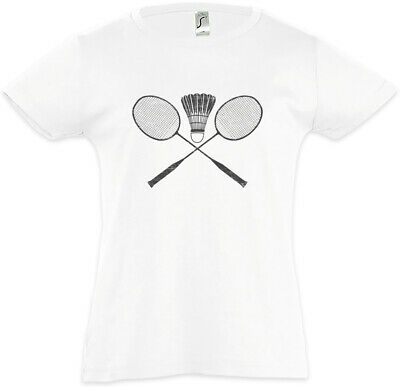 Badminton Tools Kids Girls T-Shirt Player Love Addiction Racket Court Field