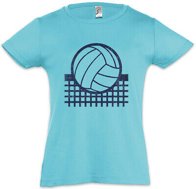 Volleyball Net Kids Girls T-Shirt Player Passion Love Addiction Ball Court Field