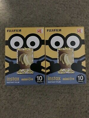 Fujifilm 2 Pack Minion Instax Mini Film, 10 Sheets each pk, EXPIRED on 05/2019